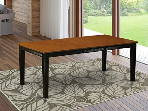 East West Furniture Butterfly Leaf Quincy Dining Table