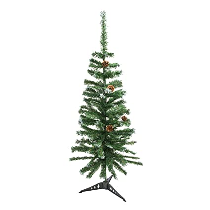 aleko ctpc48h17 luscious 4 feet christmas tree withe tips and decorative pine cones artificial holiday pine - Amazon Christmas Decorations Indoor