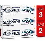 Kit Leve 3 Pague 2 Creme Dental Rápido Alívio para Dentes Sensíveis, Sensodyne, 50g