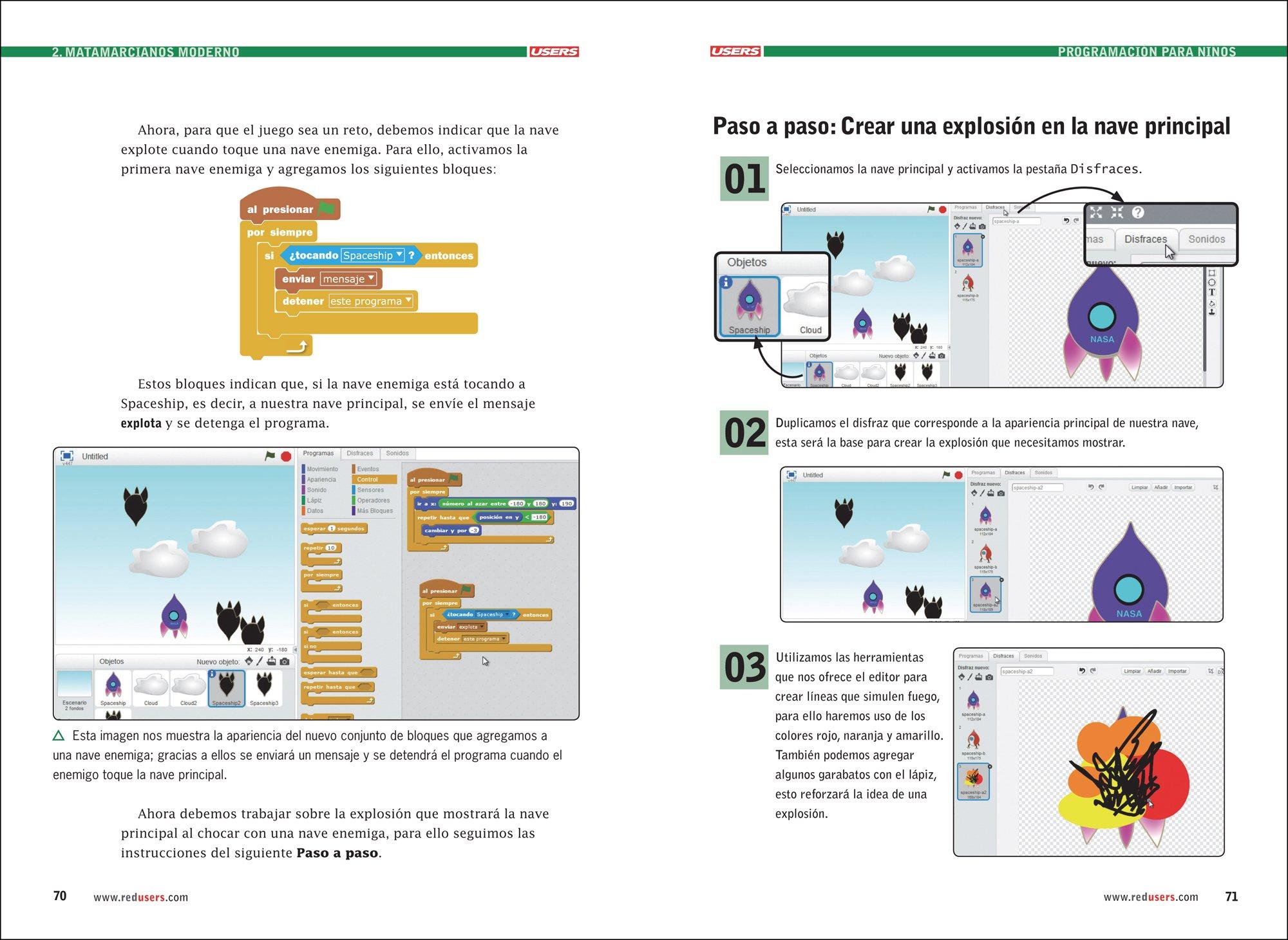 Programación para Niños - Libro2 - Guía Visual de Introducción a la Programación con SCRATCH (Spanish Edition): Claudio Peña, USERS: 9789874651860: ...