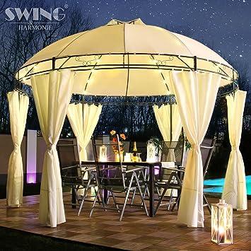 Swing & Harmonie LED - Pavillon 350 cm Lavo - avec parois latérales ...