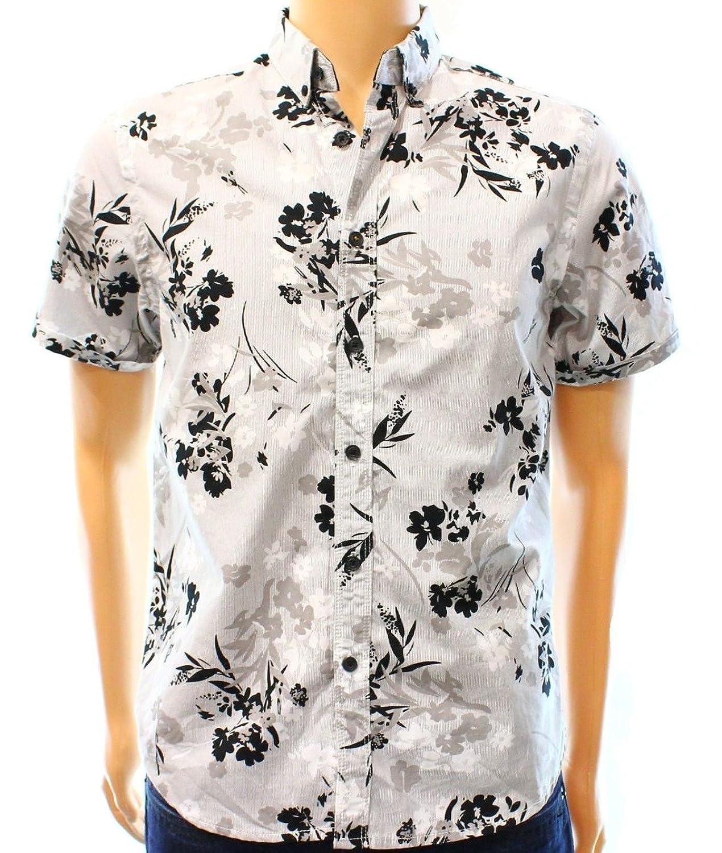 Howe Night Shadow Men's Mini Stripe Button Down Floral Shirt