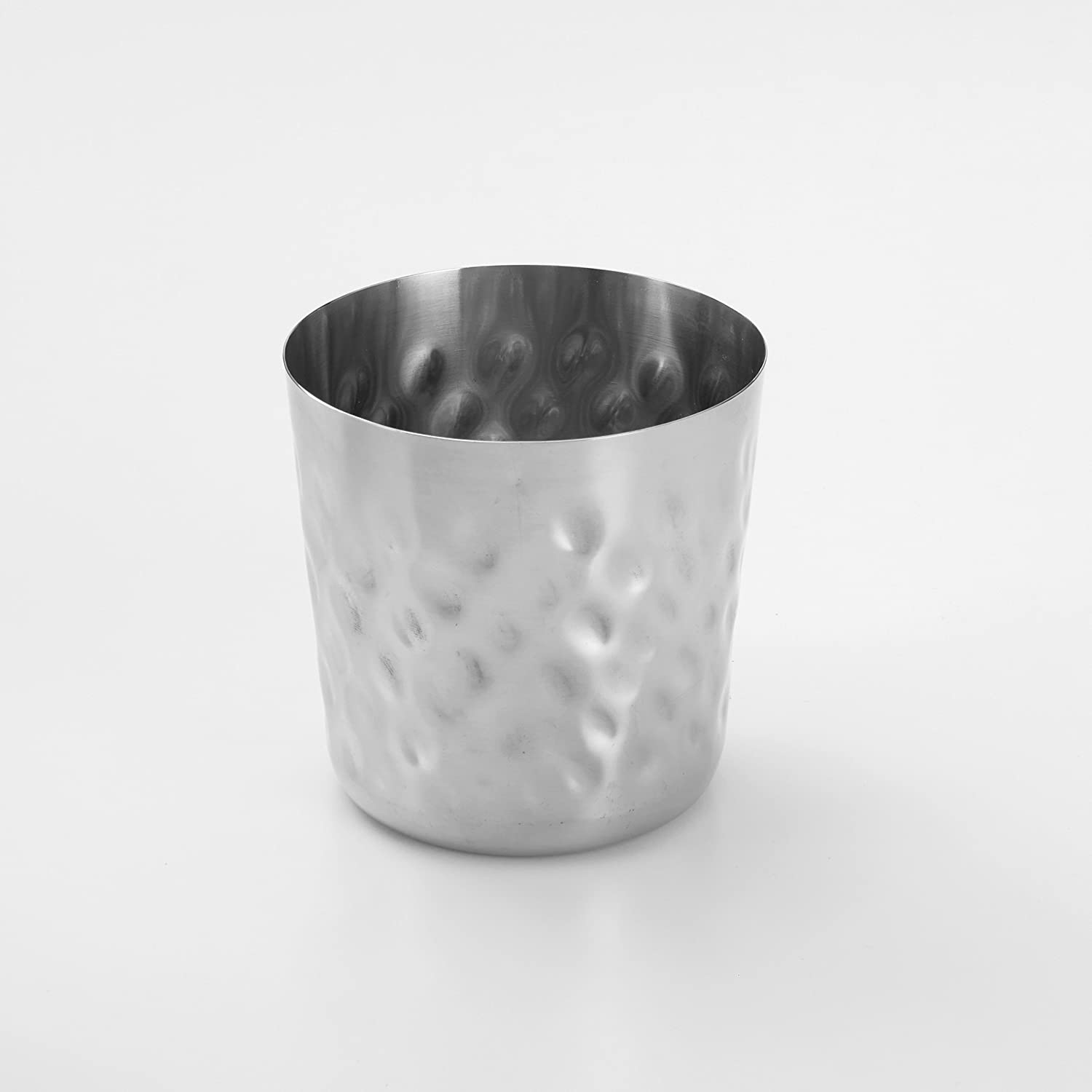 Angled Satin American Metalcraft FFCS45 Stainless Steel Fry Cup 12 oz Inc.