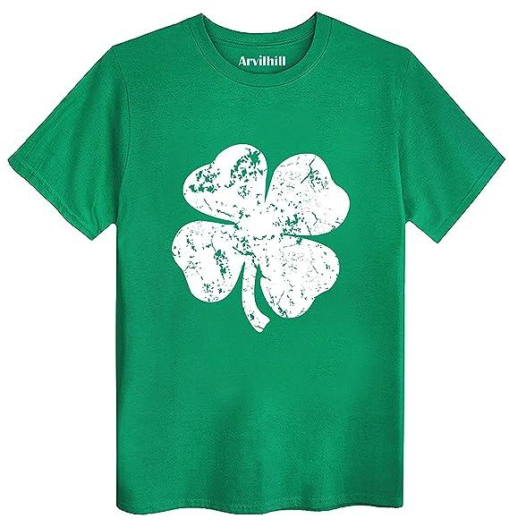 12ad24980 St Patricks Day Men's Irish Screen Printed Retro Green Tee Shirt Shamrock  Pride Tshirt Ireland Clover