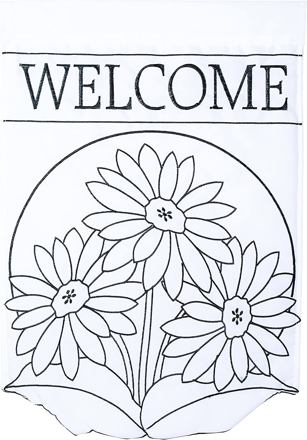 Carson Home Accents Trends Color Me Garden Flag, Gerberas Welcome