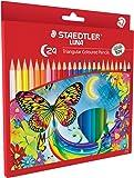 Staedtler Luna School Triangular Colour Pencils, Pack of 24