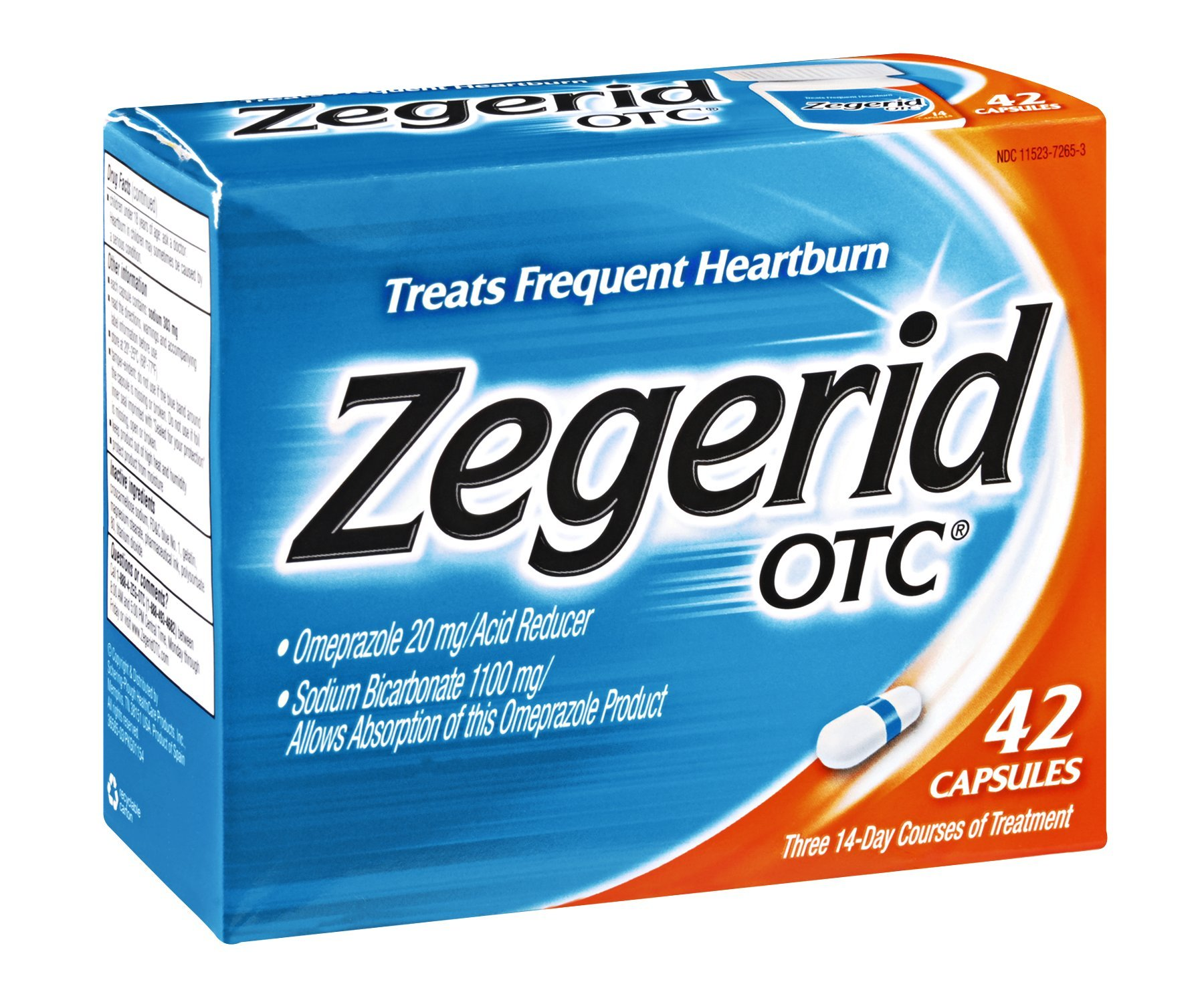 Zegerid OTC Heartburn Relief Capsules , 42 CT (Pack of 4) by zegerid pack of 4