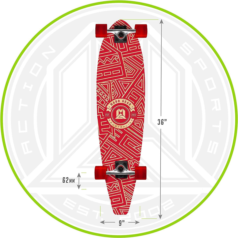 Ages 8+ Great Gift 62mm Wheels Details about  /LONGBOARD Skateboard 9 in x 36 in Beige