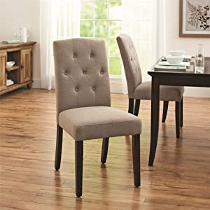 Dorel Living Claudio Tufted, Upholstered Living Room Furniture, Taupe Dining Chair