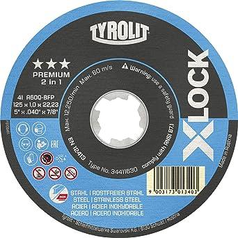 TYROLIT X-LOCK - Disco de corte (acero, acero inoxidable ...
