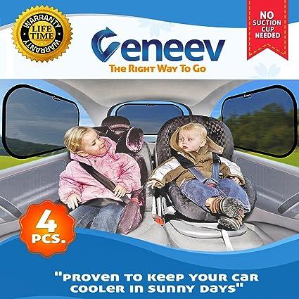 bb0218b06c4 Car Sun Shade for Side and Rear Window (4 Pack) - Car Sunshade Protector