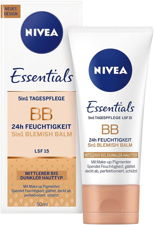 NIVEA Getönte Tagespflege für helle Hauttypen, 50 ml Tube, 5-in-1 BB Cream 82333