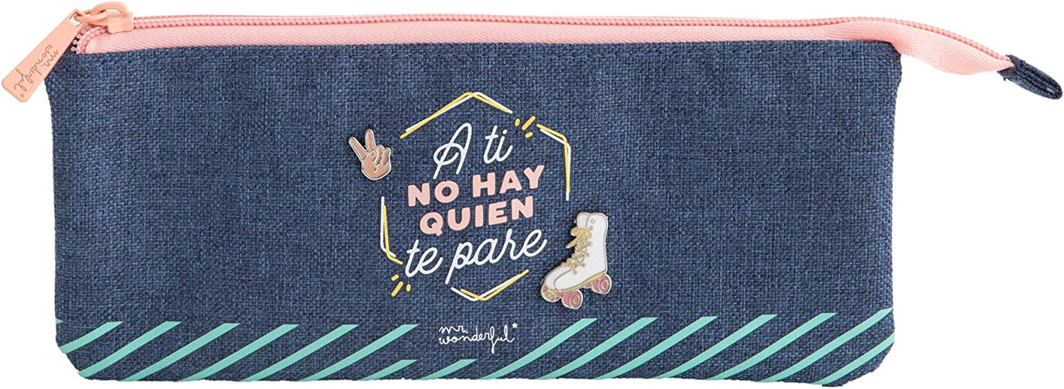 Mr. Wonderful Estuche Triple-A ti no Hay quien te Pare, Multicolor, Talla única: Amazon.es: Hogar