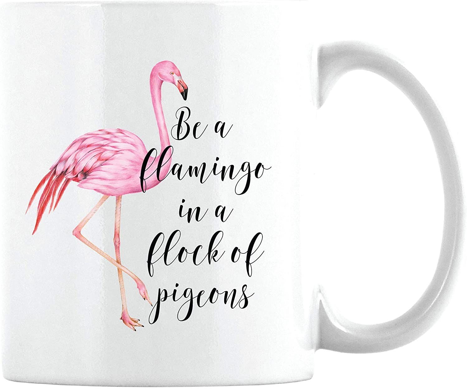 Gift For Mother Friend Gift Daughter Gift Flamingo Inspirational Quote Be A Flamingo In A Flock Of Pigeons Tote Bag Gift For Friend