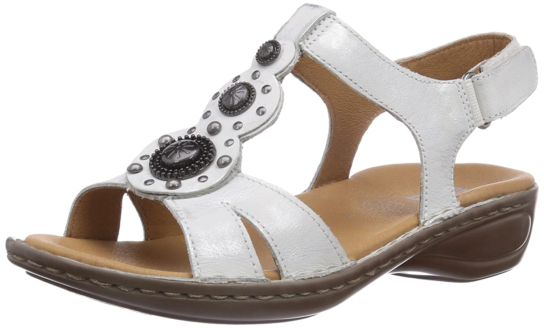 ara Hawaii (Silber Damen Knöchelriemchen Sandalen Silber (Silber Hawaii 09) 098915