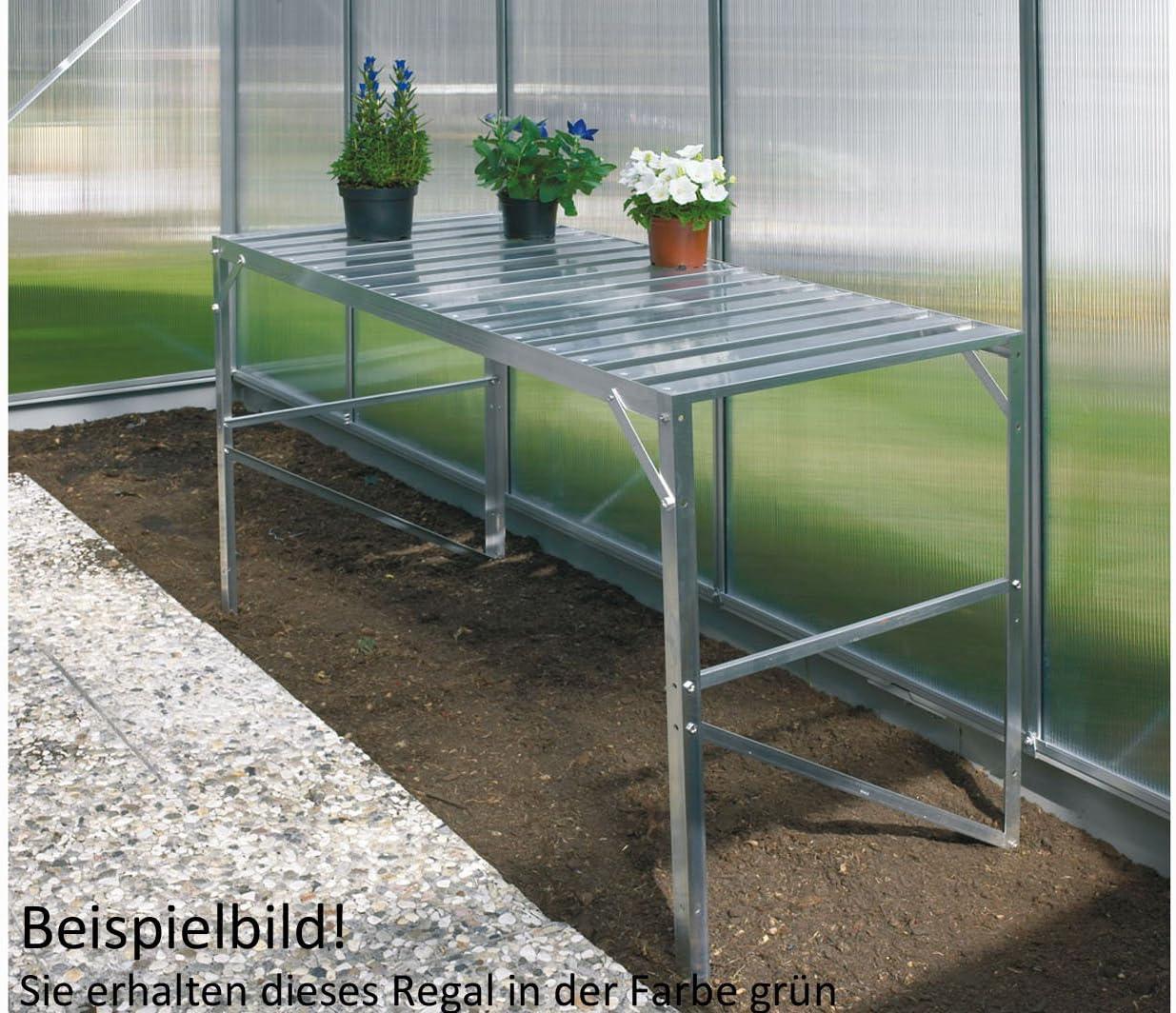 Vitavia Mesa 1 Bandeja de Aluminio Lacado Verde Abeto, L 120 x 54 x Altura 76 cm.: Amazon.es: Jardín