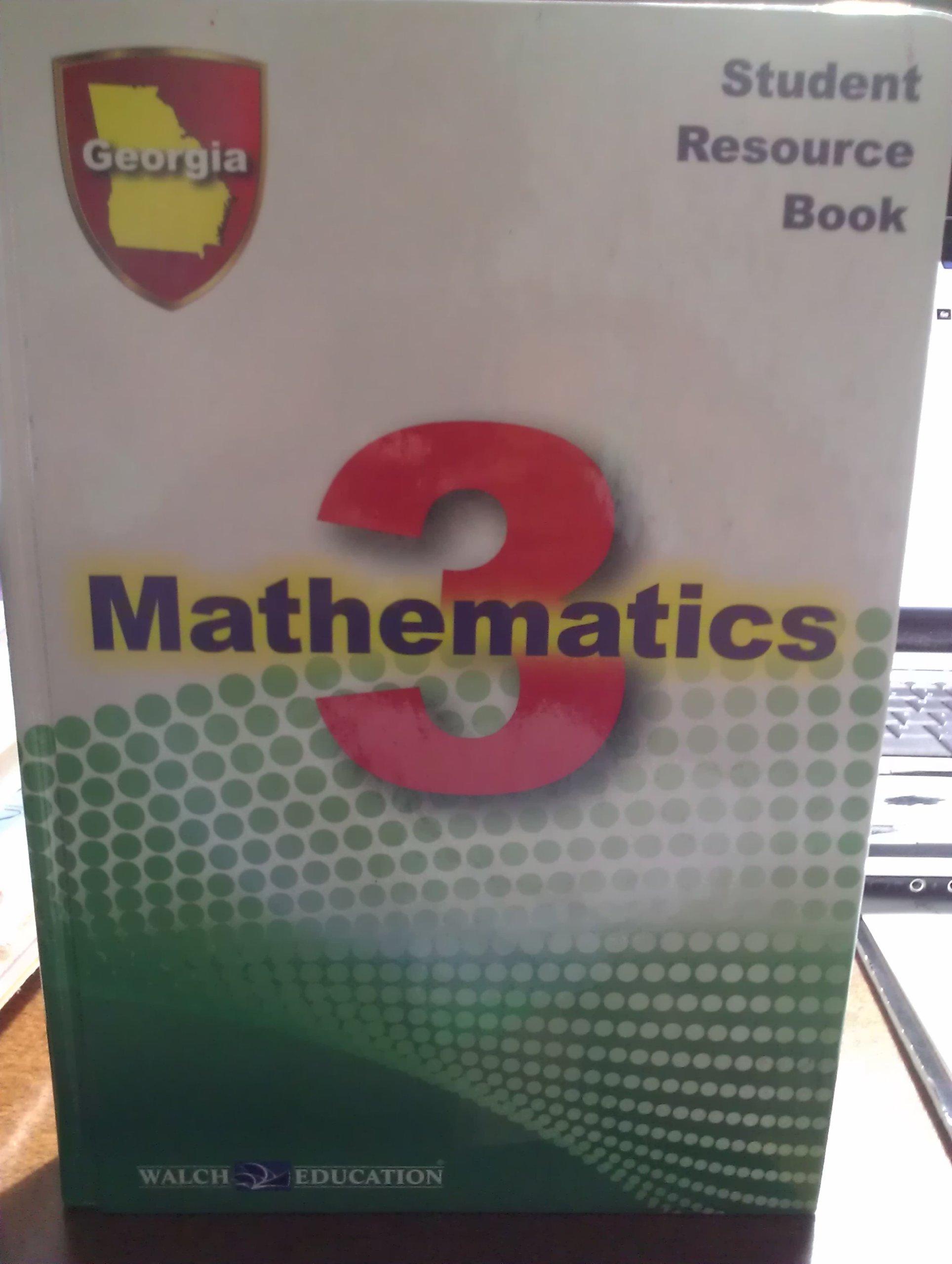 Mathematics 3 Student Resource Book Georgia Edition PDF
