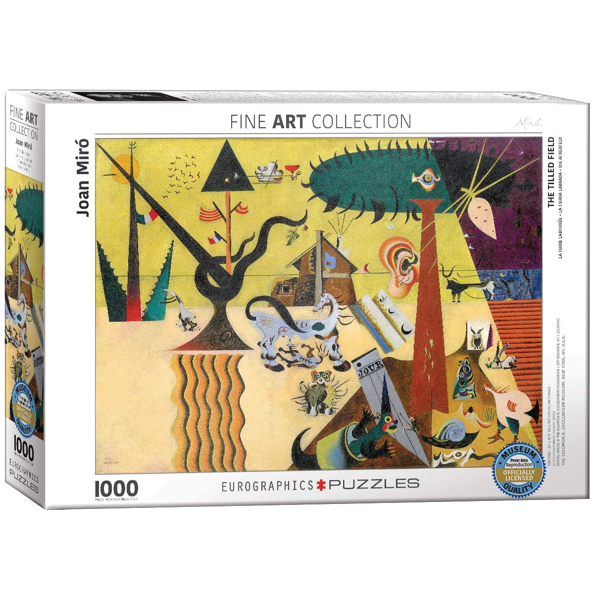 EuroGraphics The Tilled Field by Joan Miró 1000Piece Puzzle