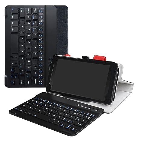 LiuShan Lenovo Tab 7 Teclado Funda, Detachable Wireless Bluetooth Teclado (Teclado QWERTY Formato inglés