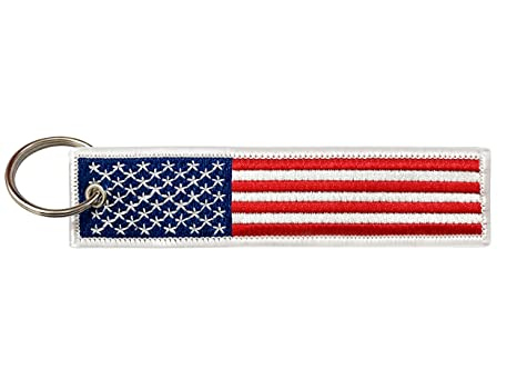 Flag Keychain Tag with Key Ring, EDC for Motorcycles, Scooters, Cars and Gifts (United States of America)