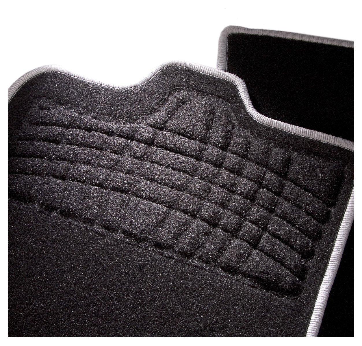 4/piezas CarFashion 255067 Juego de alfombrillas Negro