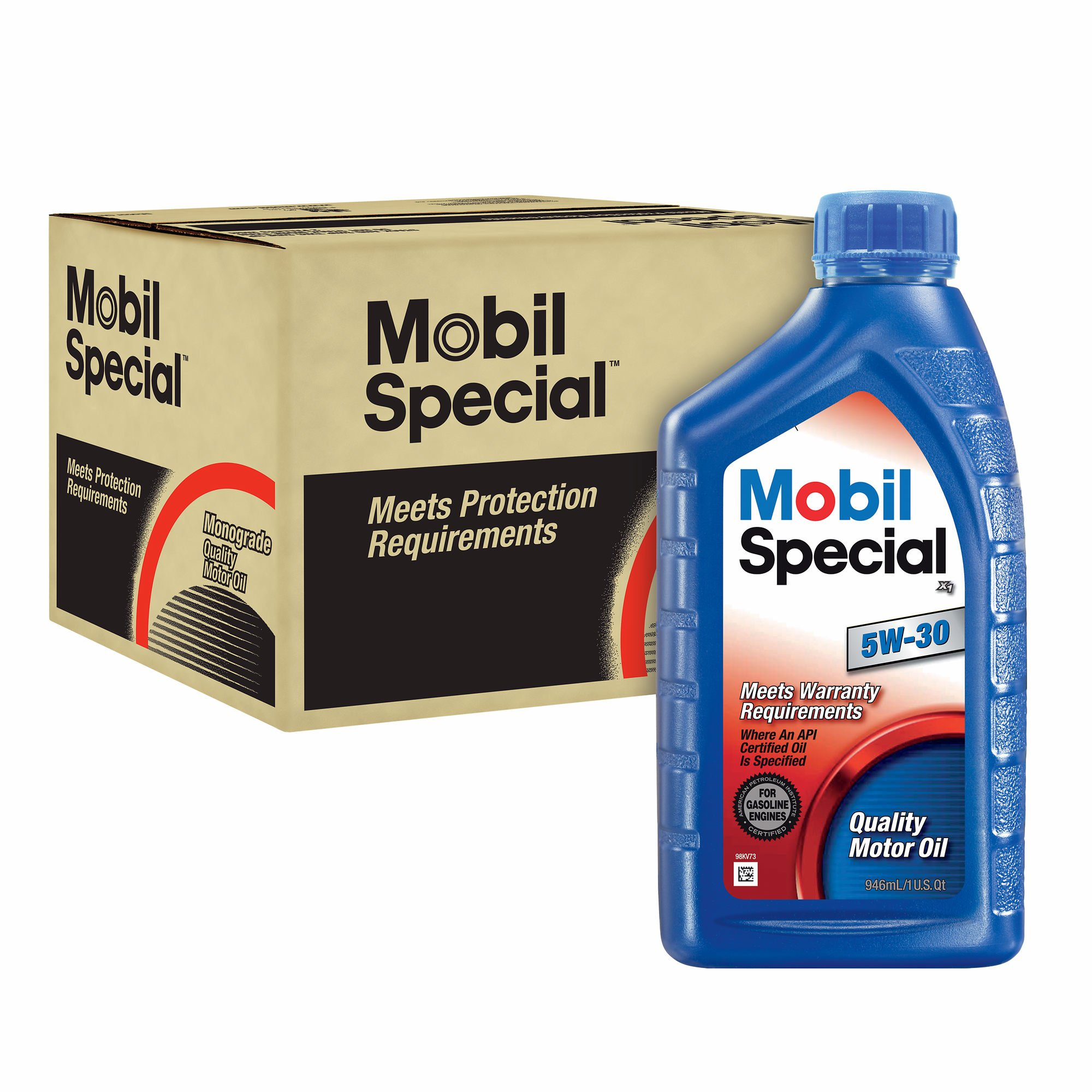 Mobil 5W30 Special Oils, 1 Qt., 12 pk. (pack of 2)