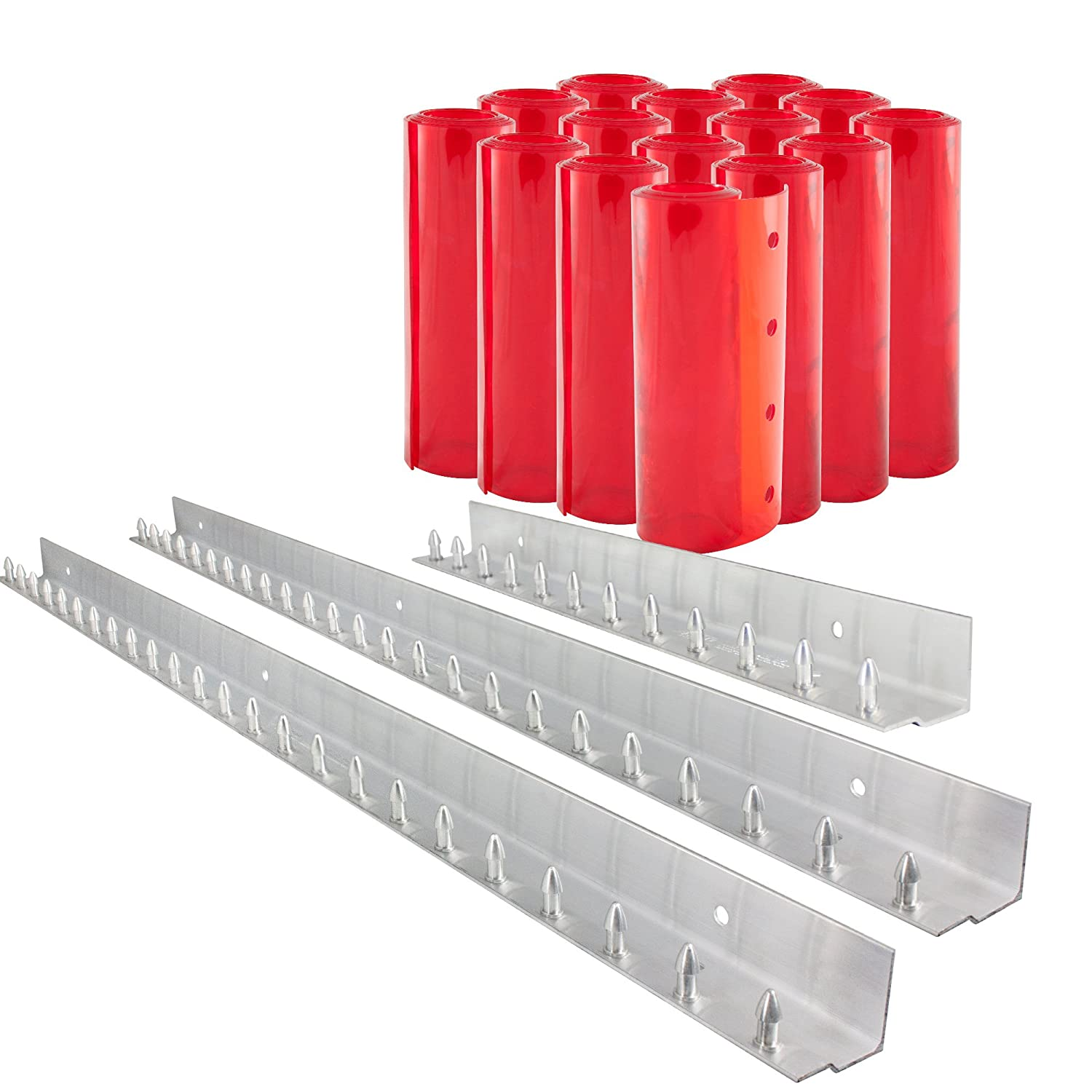 6 Width x 84 Height x 0.06 Thick Aleco 440042 Clear-Flex II Low-Temp Reinforced Freezer Strip Door Mounting Kit with MaxBullet Aluminum Mounting Hardware