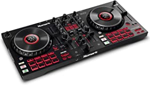 Numark Mixtrack Platinum FX - DJ Controller For Serato DJ with 4 Deck Control, DJ Mixer, Built-in Audio Interface, Jog Wheel Displays and FX Paddles