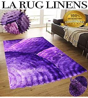 LA RUG LINENS HUGE BLOWOUT SALE NEW 8x10 Dark Purple Light Purple Lavender  Lilac Mauve Plum