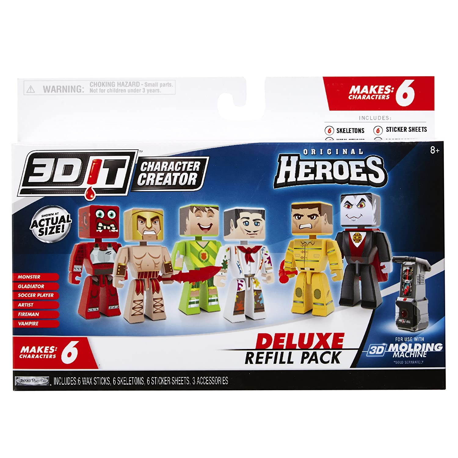Amazon com: 3DIT Character Creator City Heroes Deluxe Refill Pack