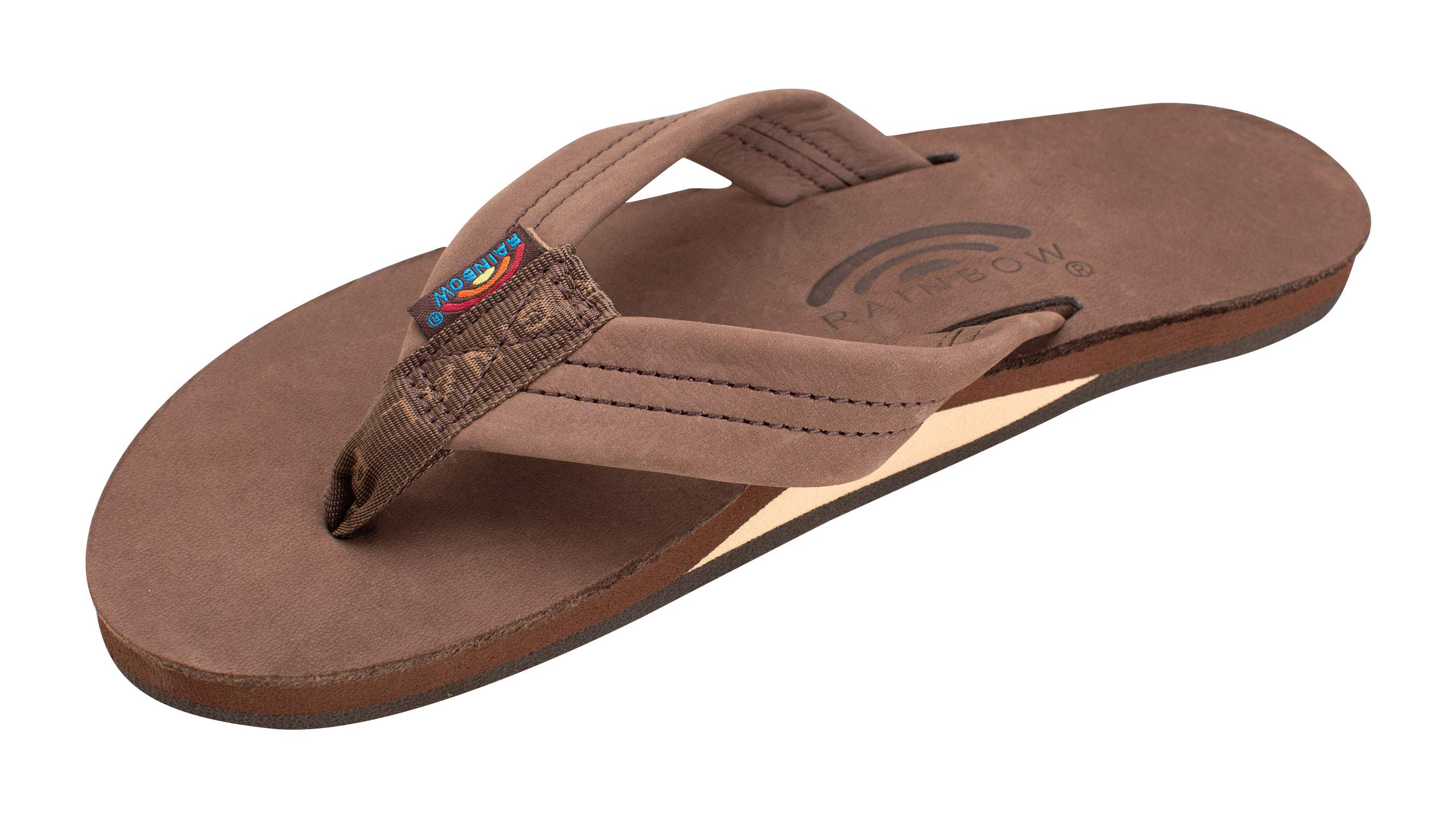 Rainbow Sandals Women's Single Layer Premier Leather Sandal, Expresso, Ladies Large / 7.5-8.5 B(M) US by Rainbow Sandals