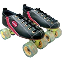 Optimus JJ Jonex Professional Series Fix Body Leather Shoe Hyper Roller Skates with Synthetic Wheels with Bag