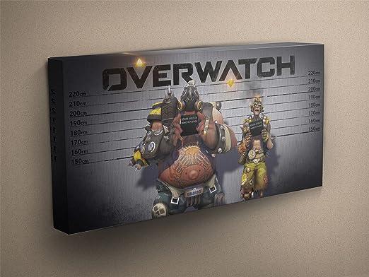Overwatch - Roadhog & junkrat estirada y montado en lienzo ...
