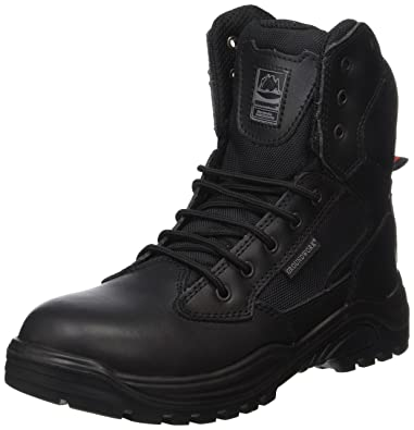 Steel Toe Cap Combat Tactical Safety Ankle Boots Security Military Police  Boot (UK5 b123d63b3fa4
