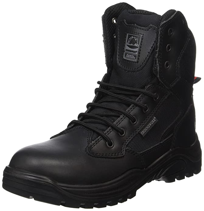 Mens Lightweight Steel Toe Cap Work Military Combat Police Safety Boots Shoes UK