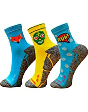 Pack Calcetines Running Mix, 3 Pares, Hombres, Mujer, Divertidos, Foxblue, Skully, Comic, Tallas 36-45