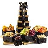 Gourmet Dried Fruit & Nut Gift Basket, Black Tower (12 Mix) - Easter Food Arrangement Platter, Care Package Variety, Prime Bi