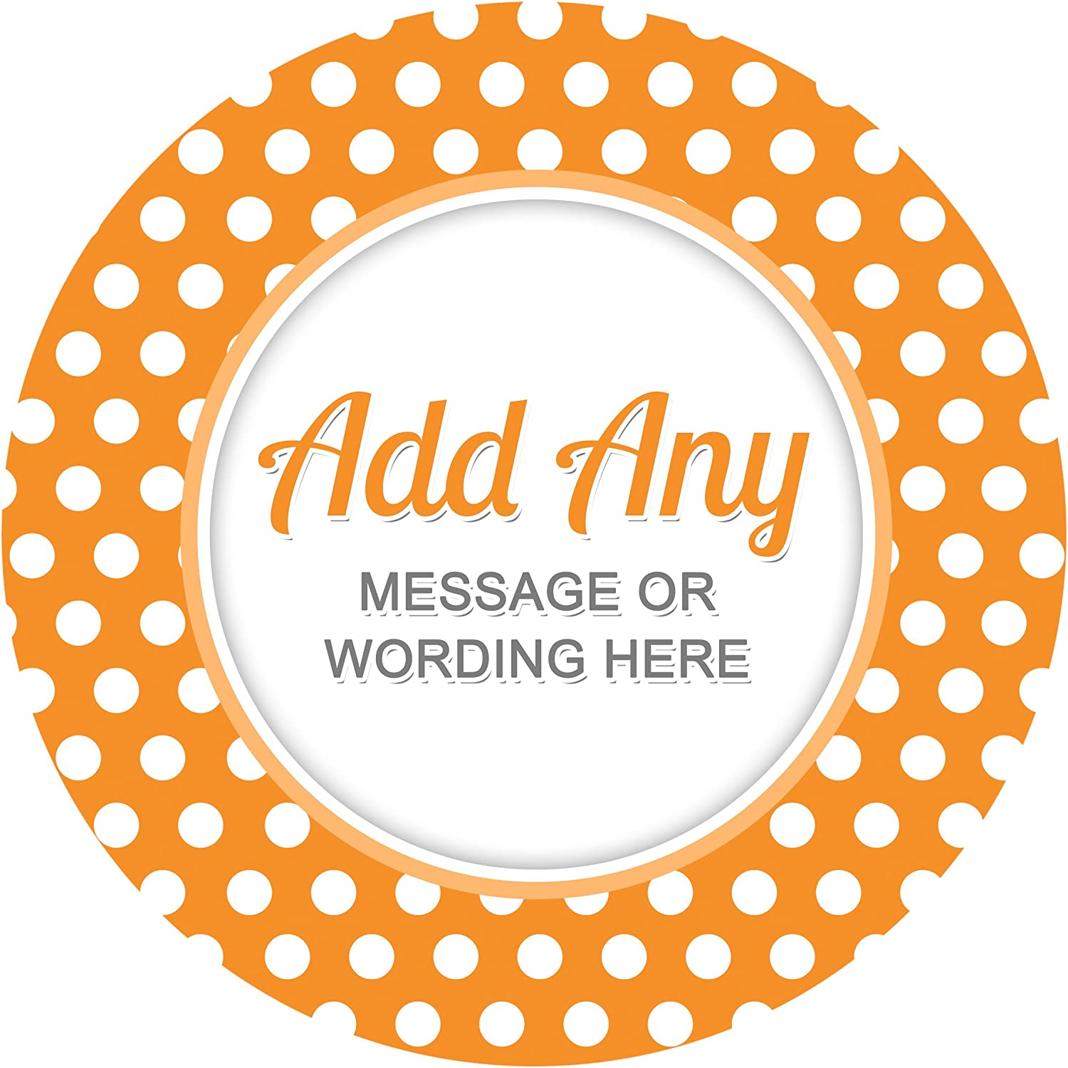 Polka Dots Black Sticker Labels Favours 6 Stickers, 9.5cm Each Crafts Sweet Cones Presentations Gift Boxes Bottles Personalised Seals Ideal for Party Bags Jars
