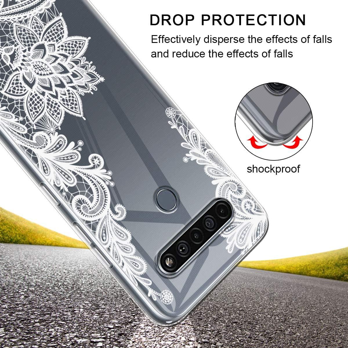 2 Pack Reshias Funda para LG K61 + Cristal Templado Protector de Pantalla Suave TPU Transparente Gel Silicona Protectora Carcasa para LG K61 6.53