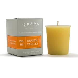 Trapp Signature Home Collection - No. 4 Orange/Vanilla Votive Scented Candle 2 Ounce, Pack of 4