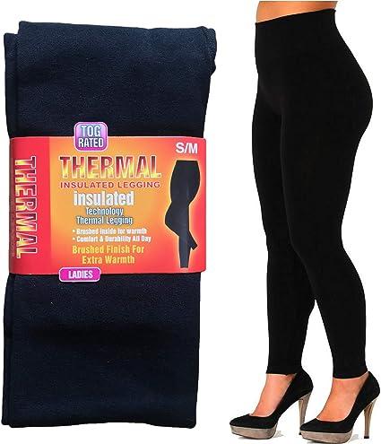 Extra Warm Ladies Legging  Thermal Winter Black Thick Fur Fleece Lined Legging