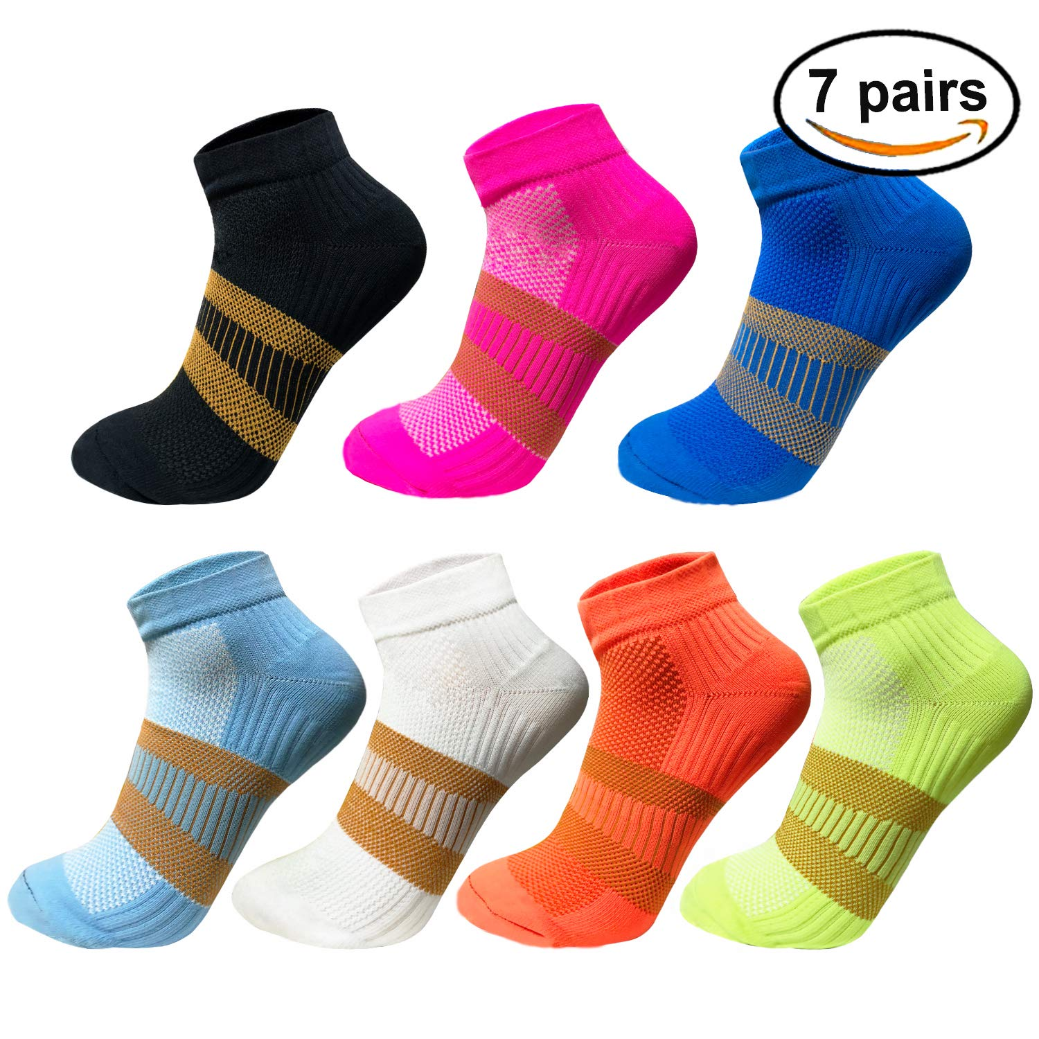 Copper Athletic Compression Socks For Men&Women-Anti bacterial Ankle Sport Socks (Multicoloured, S/M)