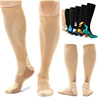 Alvada Compression Socks Women & Men with Foot Massage Pad and Arch Support 1 Pair