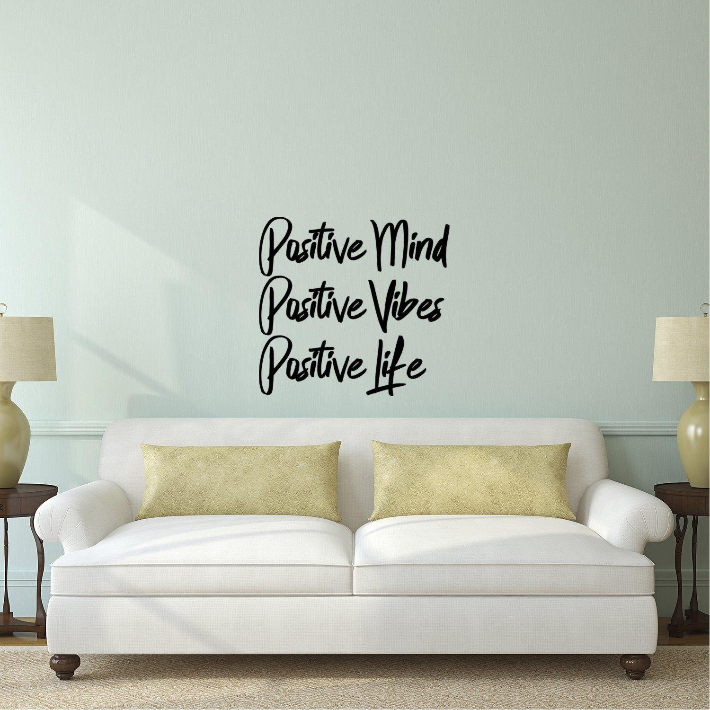 Bedroom Living Room Vinyl Wall Decor Positive Mind Motivational Wall Art Decals Positive Vibes Positive Life 19 x 20 Decoration Vinyl Stickers Inspirational Quotes Wall Art Vinyl Decal