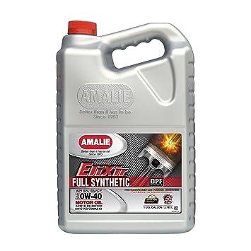Amalie Elixir 0 W40 aceite sintético 4/1gal caso: Amazon.es: Coche y moto