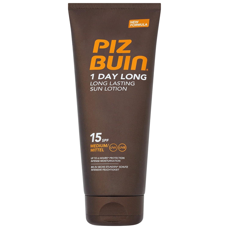 ピッツブーインの1日長い15の日焼けローション200 x4 - Piz Buin 1 Day Long SPF15 Sun Lotion 200ml (Pack of 4) [並行輸入品] B072P2LSMQ
