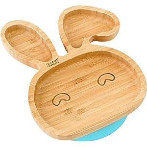 Plato con ventosa de succión para bebés y niños pequeños, queda en su sitio,