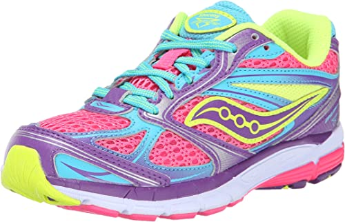 Saucony Girls Cohesion 7 AC Pink Running Shoes EXTRA WIDE WIDTH sz 5 or 6.5