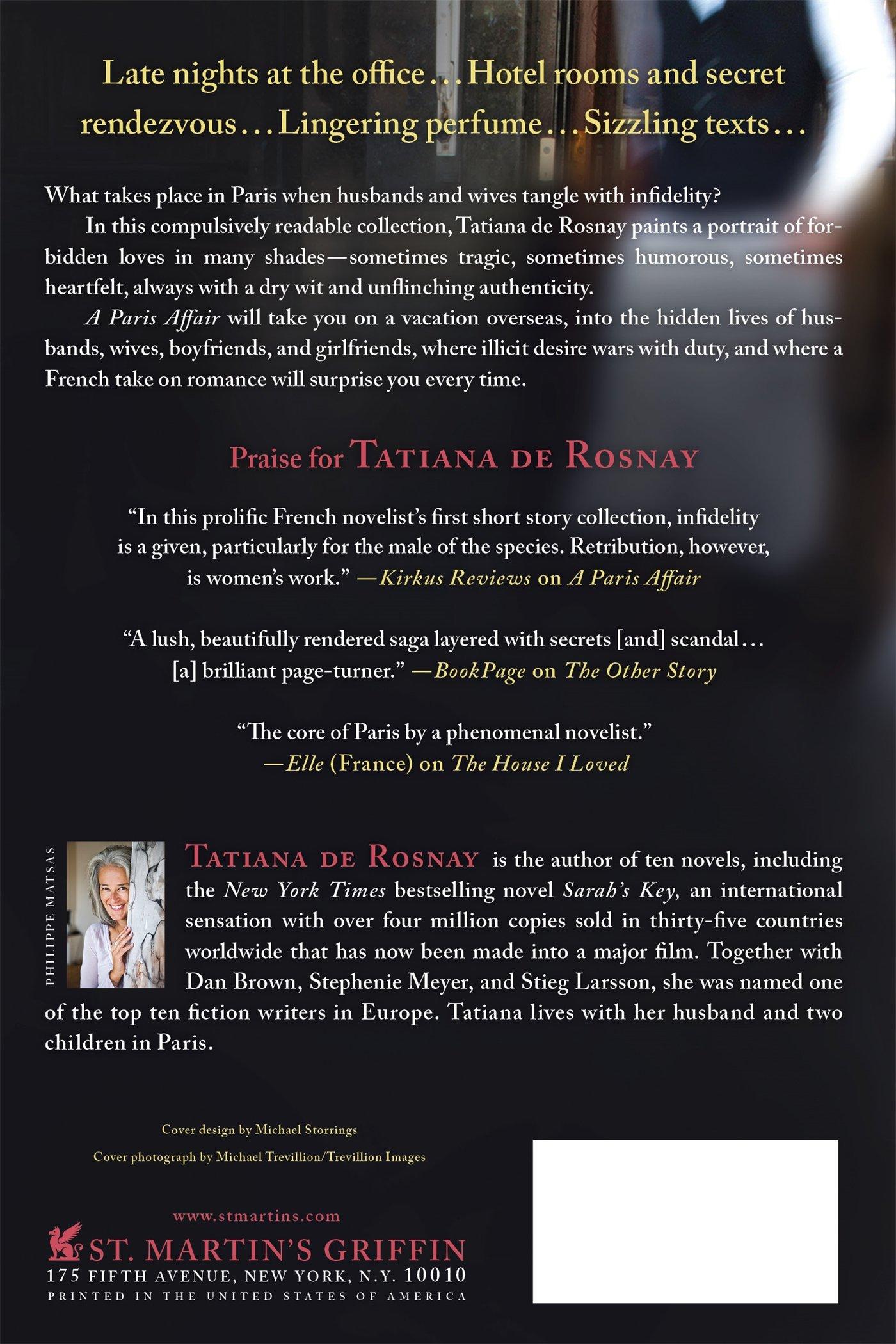 A Paris Affair: A Novel: Tatiana De Rosnay, Sam Taylor: 9781250093875:  Amazon: Books