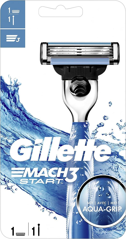 Gillette Mach3 Start afeitadora para hombres con Aqua Grip de ...